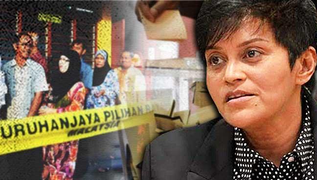 azalina-othman-mengundi-pengundi-malaysia