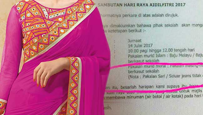 School apologises for saree ban free malaysia today school apologises for saree ban stopboris Images