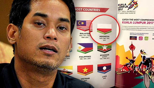 Sea Games Upside-down Flag: Indonesia Sends Diplomatic Note