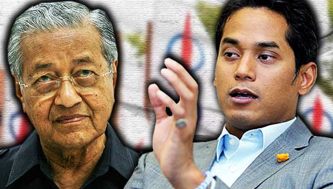 Image result for Mahathir Mohamad with Khairy Jamaluddin
