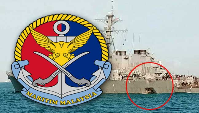 Malaysia launches sea search for missing sailors from USA warship