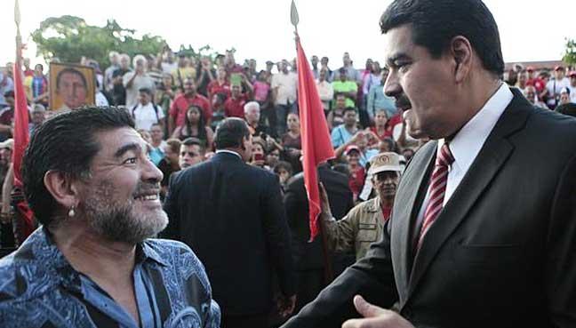maradona-Nicolas-Maduro