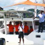 Sebuah bot catamaran berkuasa solar yang dibina sepenuhnya bakat tempatan di bawah syarikat diketuai Issac Alexander.