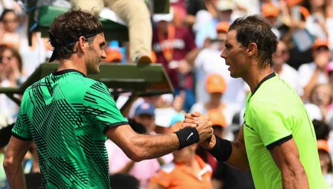 Nadal dismantles Rublev to remain on Federer collision course