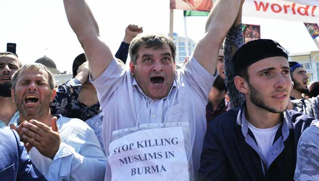 Russia-protest-supporting-Rohingya