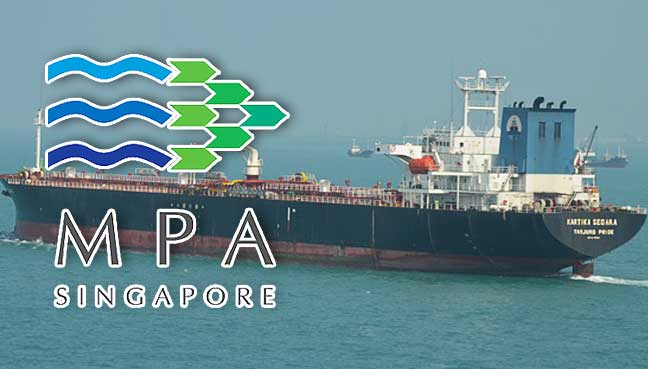 Tanker, dredger collide in Singapore waters, 5 crew missing