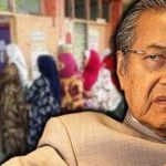 mahathir-mohamad-election-mengundi-beratur