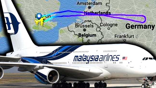 Malaysia Airlines flight turned back to London after passenger swallowed blades