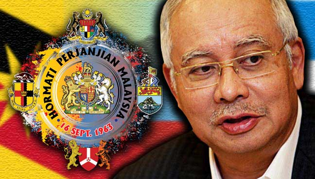 Najib assures Sabah, Sarawak of rights under MA63