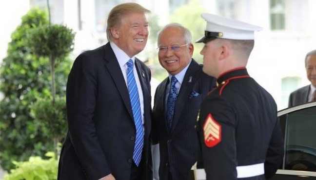 Trump puji Najib, Malaysia sedia beli jet AS$10 bilion