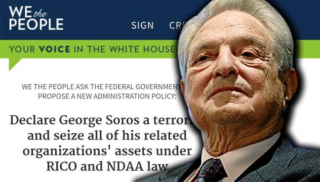 White House petition aims to declare George Soros a terrorist