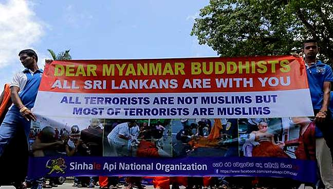 Monk-led mob attacks Rohingya refugees in Sri Lanka
