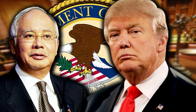 Najib sets foot in the White House