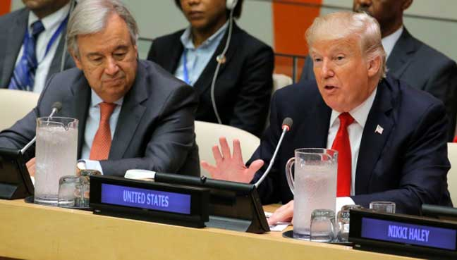 Trump issues stark threats to North Korea and Iran at UN