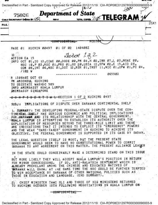 CIA document reveals true intention of Malaysia formation