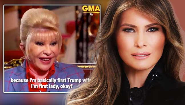 Ivana vs Melania: First wife is 'self-serving' — First Lady