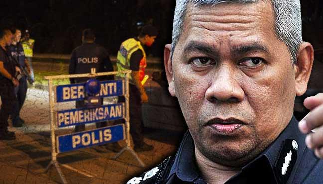 Mohd-Zani-Che-Din-roadblock-police
