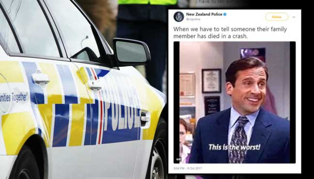 N. Zealand cops sorry for 'insensitive' road death tweet