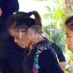 Tertuduh warga Indonesia Siti Aisyah ketika dibawa ke Mahkamah Tinggi Shah Alam pagi ini.
