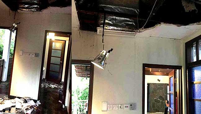 Pasangan cedera, siling, dinding runtuh di hotel di PD