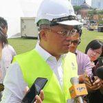Ministerin the Prime Minister's Department Abdul Rahman Dahlan speaking to reporters during his visit to the Expo Negaraku at Dataran Merdeka here today.