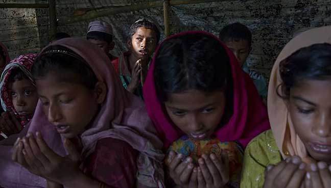 School a rare sanctuary for traumatised Rohingya children