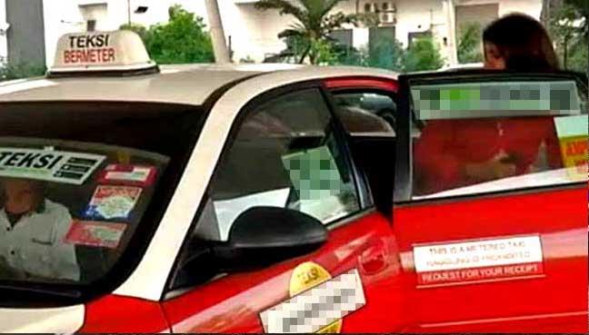 Hasil carian imej untuk emandu teksi minta penumpang teman tidur, ganti tambang RM400