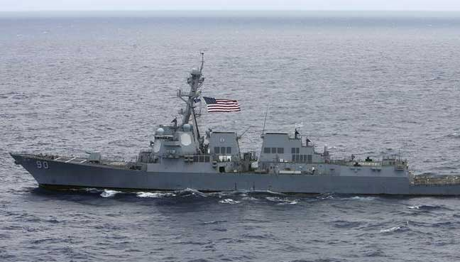 China lodges representations with USA over destroyer's trespass on territorial waters