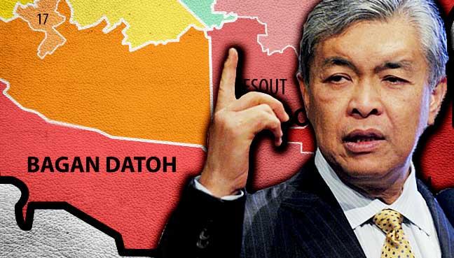 Zahid sasar kekal Bagan Datuk dengan majoriti 5 kali ganda