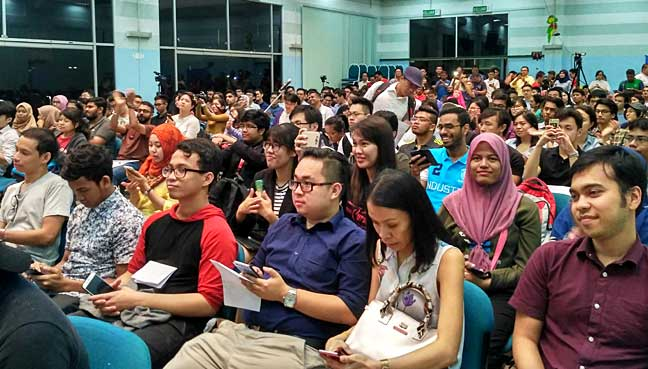 Audience at townhall session. Around 150 people were present.
