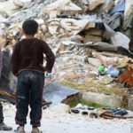 Syrians-deliver-rubble-and-show-film-in-British-parliament