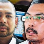 Umno Youth member Syed Rosli Jamalullail (left) and Klang Valley Taxi Association chairman Zailani Isa Usuludin.