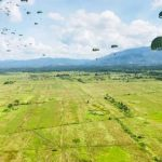 The 10th Paratroopers Brigade conducting a mass drop exercise in Kota Belud, Sabah (Photos courtesy of 10 Para).