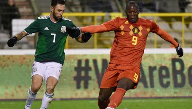 Belgium's Romelu Lukaku scores twice in 3-3 draw with Mexico