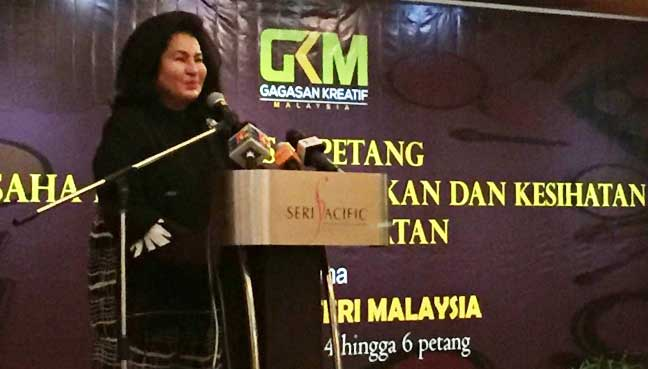 Rosmah Mansor says she was 'instructed' by her husband to replace him at the event.