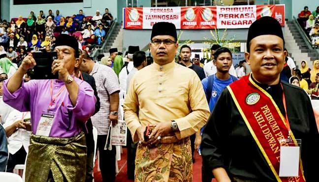 Ketua Umno Sungai Besar, Datuk Seri Jamal Yunos ketika menghadiri Persidangan Agung  Tahunan ke-8 Perkasa di Stadium Titiwangsa