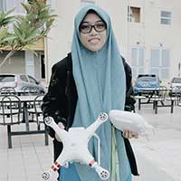 Siti Zalikha Abdul Rahman uses her drone to do videos or take pictures of scenery.