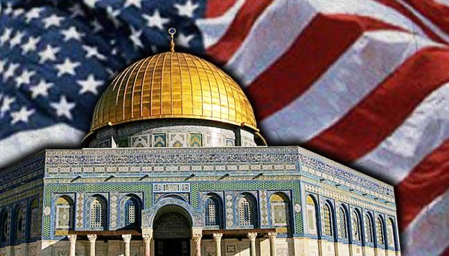 Baitulmaqdis-bendera-amerika-syarikat