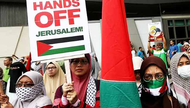 Thousands-of-Indonesians-again-protest-Trump's-Jerusalem-move