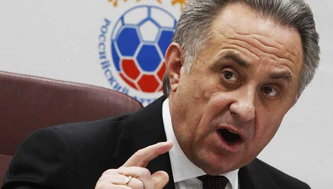 Mutko suspends himself from presidency of Russian Football Federation