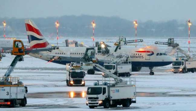 Snow And Ice Ground Hundreds Of Flights In Frankfurt