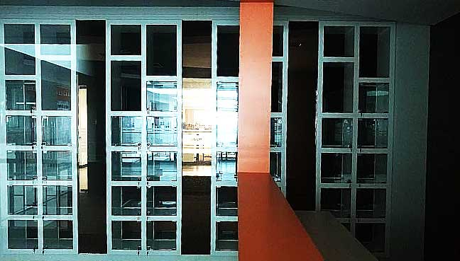 Empty shelves seen inside the gallery dedicated to Dr Mahathir Mohamad.