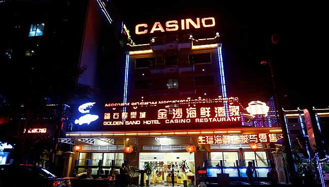 A Chinese Restaurant, Hotel and Casino was seen at the Preah Sihanoukville province, Cambodia.