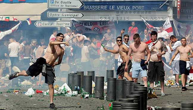 In past football tournaments, fans from England have often caused trouble and committed crimes.