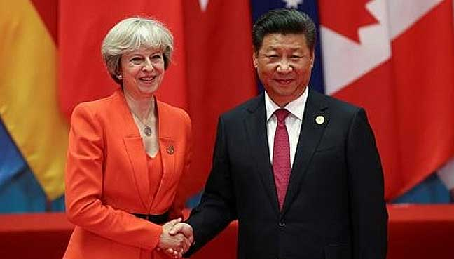 Uk Pm Says She Wants Free Trade Deal With China Free Malaysia Today