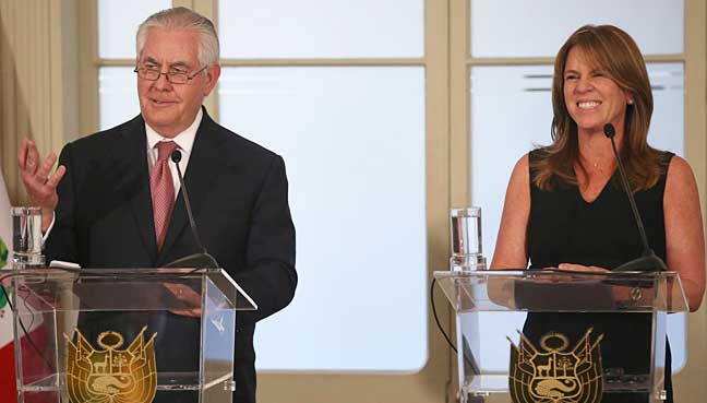 Continued US support for Jamaica's security forces - Tillerson