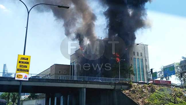 Landmark EPF building on fire