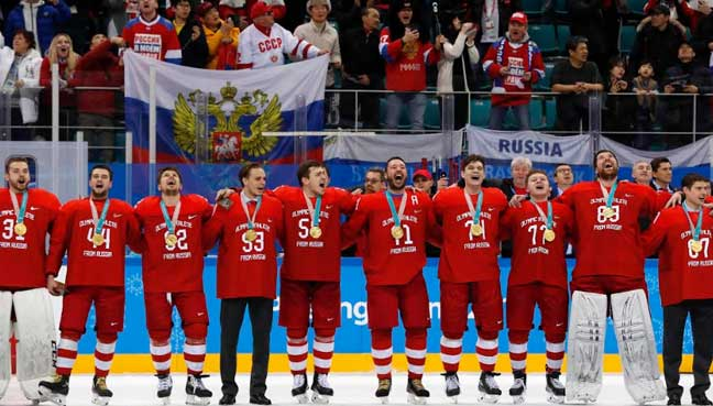 Olympics roundup: Russians ice men's hockey gold in overtime