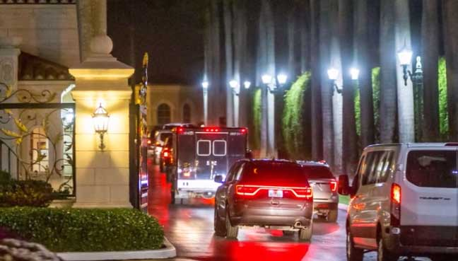 Driver removed from presidential motorcade after gun found in bag