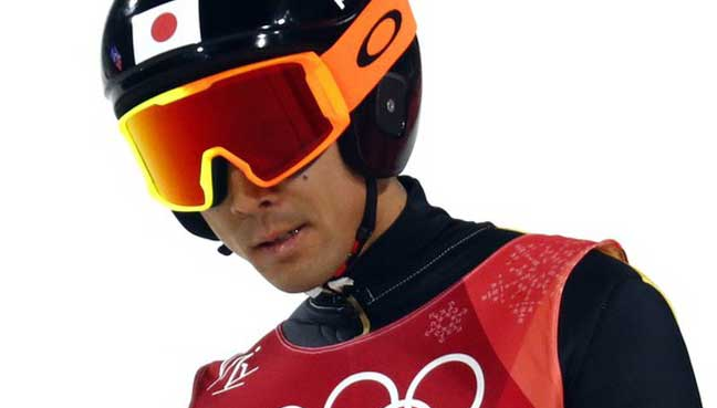 fa42b9c0abee6b Akito Watabe leads the individual large hill after scoring 138.9 points in  the ski jump. (Reuters pic)